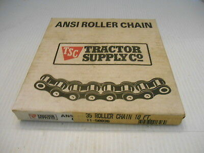 New In Box Ansi Roller Chain #35 10' Part #11-50036