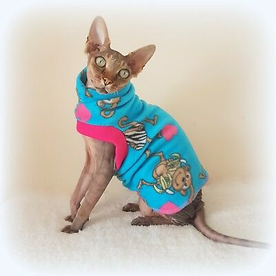 kitten MONKEY, Sphynx cat clothes, pet clothes, hairless cat, Sphynx clothes