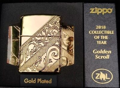 Zippo Golden Scroll 2018 Coty, Ltd Edition (Gold Plated)