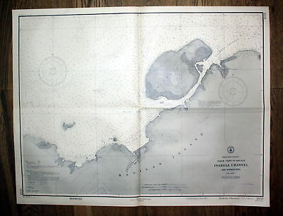1925 Philippine Islands Basilan Isabela Channel Philippinen map Karte plan Plan