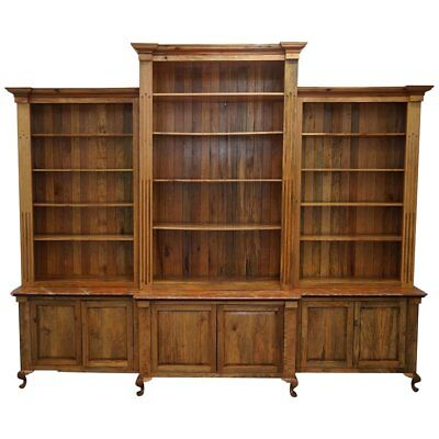 Battleford Hall Breakfront Library Maple & Oak Bookcase 260Cm X 320Cm Marbled