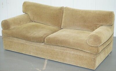 Rrp £7500 George Smith Bolster Three Seater Sofa Feather Filled Cushions Stamped