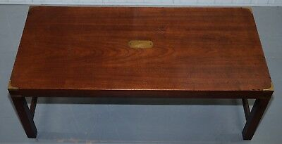 Harrods London Mahogany Kennedy Furniture Military Campaign Coffee Table