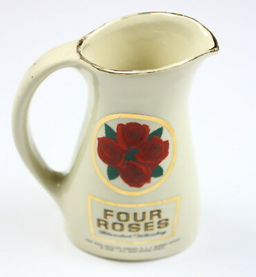 Four Roses Blended Whiskey Jug Decanter Barware Decoration Vintage Pitcher
