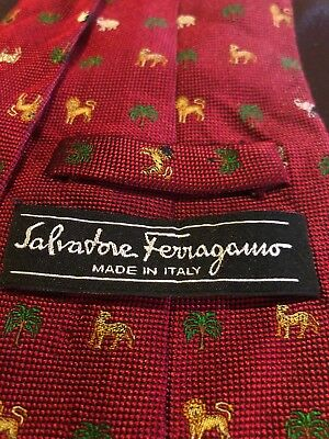 Salvatore Ferragamo Silk Tie Red Italy
