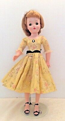 Vintage Madame Alexander Cissy Doll in Tagged Dress - original slip and panties.