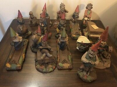 Lot Of 16 Tom Clark Cairn Studios Gnomes, COA For Most, Some Hand Signed