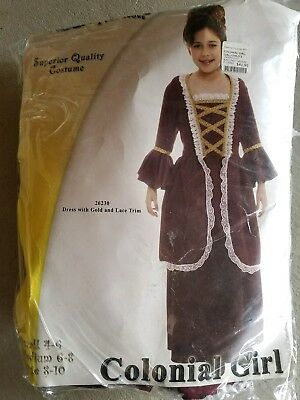 N Child Underwraps Colonial Girl Halloween Costume Size M