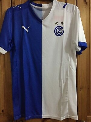 GRASSHOPPER CLUB ZURICH home jersey shirt PUMA men adult SIZE M BNWT
