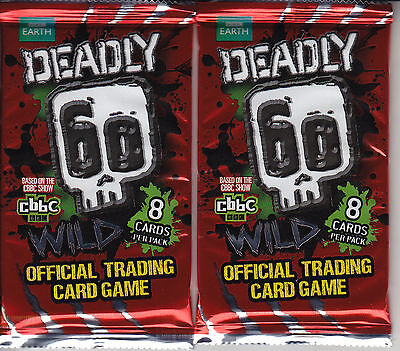 DEADLY 60 - Wild Series 2 Trading Card Game Booster Packs (24ct) #NEW