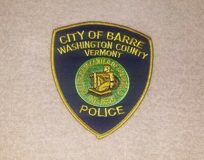 Barre Vermont Police Shoulder Patch