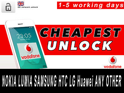 UK NOKIA LUMIA SAMSUNG HTC LG Huawei ANY OTHER UNLOCK CODE SERVICE FOR Vodafone