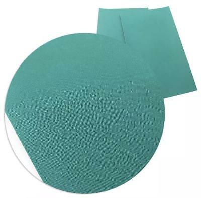 Teal green solid faux leather fabric Vinyl sheet / full or 1/2 sheet