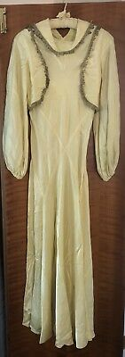 Vintage Wedding Dress Small C1939/40 Very Small Size