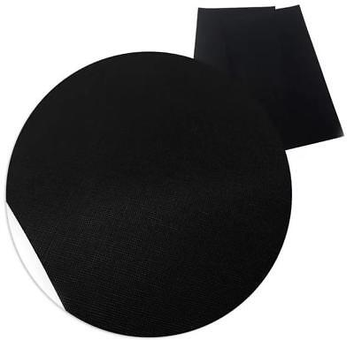 Black solid faux leather fabric Vinyl sheet / full or 1/2 sheet