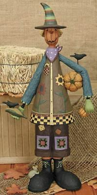 Williraye Studios Scarecrow with Pumpkin and Corn WW8101 New in Box