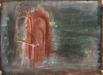 DOROTHY KIRKBRIDE Watercolour Painting ABSTRACT LANDSCAPE c1980