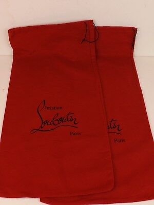 """Set of 2 Christian Louboutin Red Dust Bag for Boots shoes or purse 11.1/4 x 23"""""""
