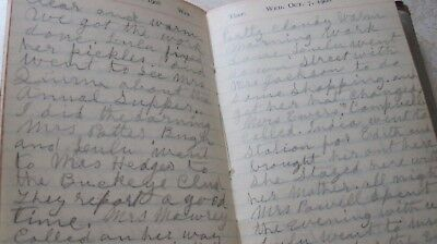 RARE 1908 Wealthy Woman COLUMBUS OH OSU Blind Institute Doctor HANDWRITTEN DIARY