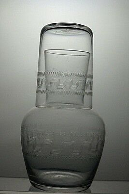 Pall Mall Lady Hamilton Edwardian Crystal Water Carafe With Tumbler