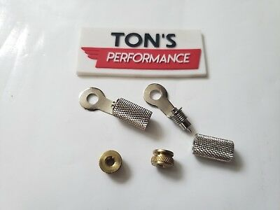 Spark Plug Wire Brass Nuts & Ring Terminals Harley bobber chopper Sportster BSA