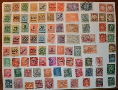 Very Rare Antique/Vintage Lot Of 89 German Stamps 1800's-1900's - No Reserve