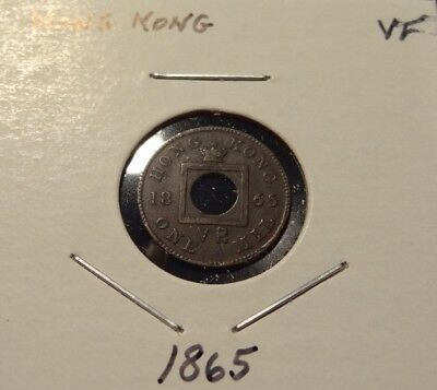 1865 Hong Kong 1 Mil Coin KM#2 Nice details