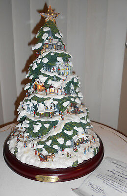 Nib Thomas Kincade Village Christmas Illuminated Tree 2004