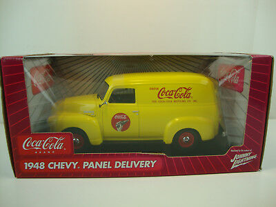 1948 CHEVY CHEVROLET COKE COCA COLA PANEL TRUCK CAR 40s 1:18 Johnny Lightning