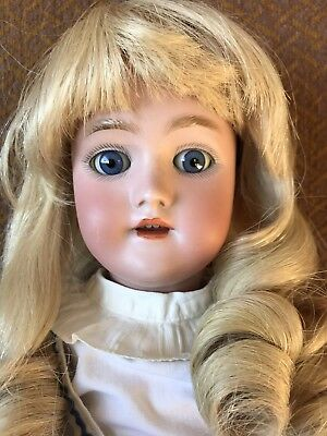 "Antique Handwerck/Simon & Halbig 18"" Doll Blue Eyes, Blonde Hair"