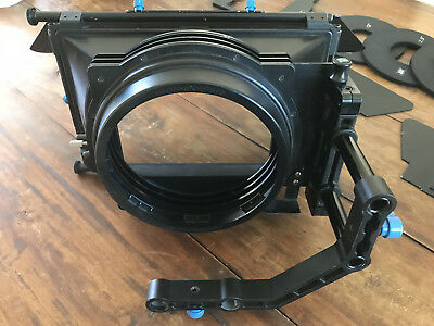redrock micro matte box, extra knobs, 4 doughnuts, swing away arm