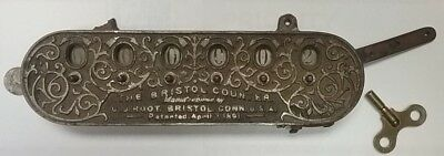 RARE 1891 C. J. Root BRISTOL COUNTER antique old vintage cast iron train trolley