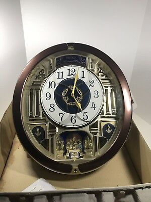 Mint Seiko Musical Melodies In Motion Clock SPECIAL EDITION Home Decor QXM541BR