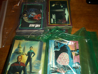 Lot of Star Trek Trading cards over 300 TNG TOS DS9 Skybox Paramount Pictures