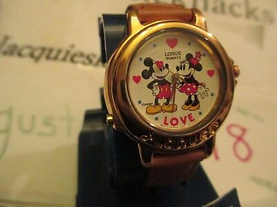 disney vintage mickey minnie mouse musical wristwatch beatles melody watch rare