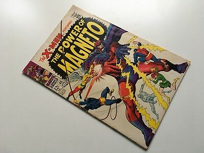X-Men #43 - MARVEL 1968 - Magneto Toad Quicksilver Scarlet Witch app
