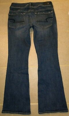 American Eagle women's Jeans Super Stretch Kick Boot Size 8 Short AEO Denim