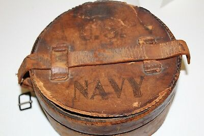 US NAVY Officers Collar Leather case and collars 1890-1915 Military