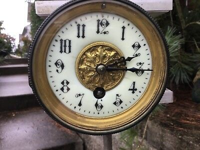 French Movement with beautiful Dial, with Back Door & Mounting Screws RUNS..