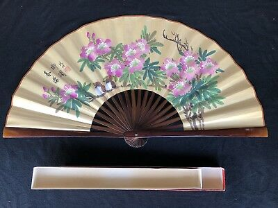 Large Hand Painted Japanese Chinese Asian Wall Fan