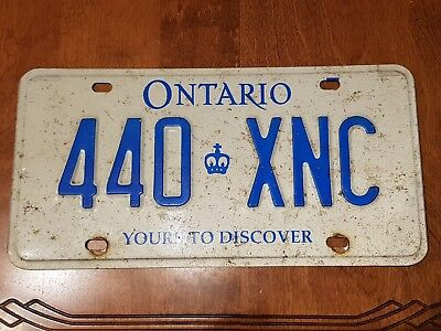 2000's Ontario license plate Vintage car man cave shop sign