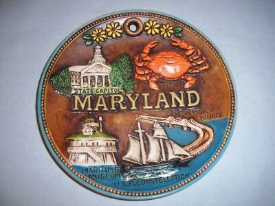 Maryland State Decorative Collector Plate Made In Japan