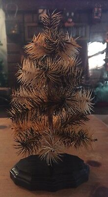 """10"""" Halloween Goose Feather Tree Tabel Top Thanksgiving German Style"""