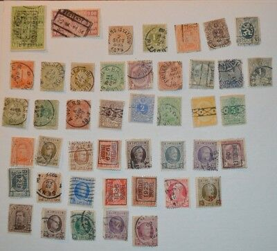 Very Rare Antique/Vintage Lot Of 44 Belgian Stamps 1800's-1900's - No Reserve