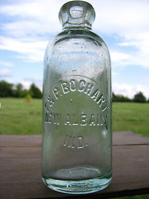 F & P Bochart New Albany Ind. hutch soda  bottle hutchbook Ind 0273 rare