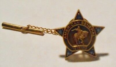 10K And Sapphire 15 Yr. American General Insurance Tie Pin