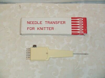 Knitting Machine Accessory: Adjustable  Needle Transfer Tool In Box
