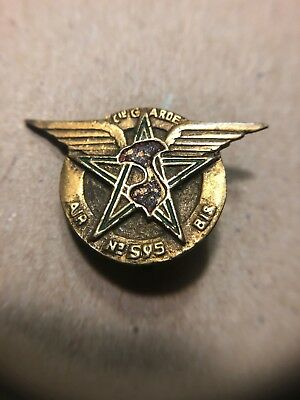 French Indochina Air Cie Garde No595 Local Indochine Insignia Badge RARE!