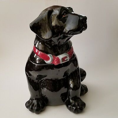 Black Labrador Cookie Jar Big Sky Canine Kitchen Collection Phyllis Driscoll