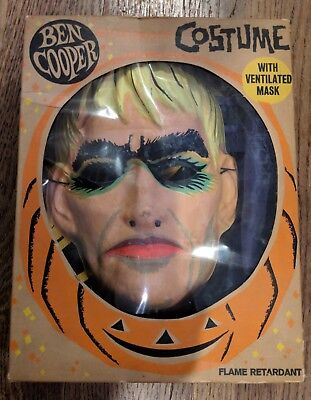 Vintage 60's Ben Cooper LURCH Addams Family Costume & Mask w/Box Monster